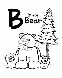 letter b alphabet coloring pages for kids letter b words