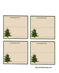 printable placecards free printable christmas tree place cards free