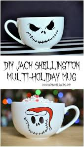 diy jack skellington multi holiday mug