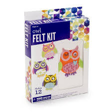 darice felt owl kit makes 12 walmart