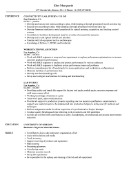 sle of resume lab intern resume sles velvet