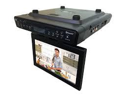 sylvania under counter tv dvd combo with 10 1 u201d screen bluetooth