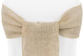 burlap chair sash cv linens