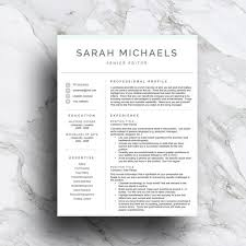 Two Page Resume Sample by 103 Best Resume Templates Images On Pinterest Cv Template
