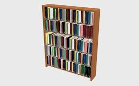 Bookcase With Books Books Shelf 3d Max