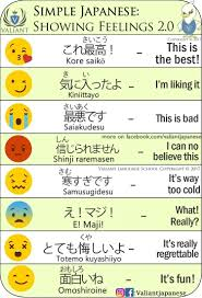 meaning of the emoticons 日本語 japanese language