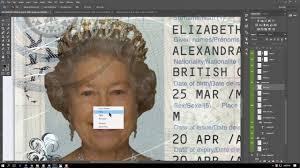 cheapest price 10 uk passport template fully editable psd