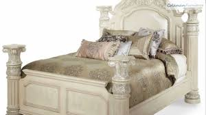 Aico Bedroom Furniture Monte Carlo Ii Silver Pearl Poster Bedroom Collection From Aico