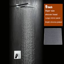 compare prices on bath shower sets online shopping buy low price bathroom 9 inch rainfall shower head wall mounted shower set brass bath faucet mirror chrome plated