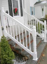 vinyl porch railing with turned spindles u0026 turned posts by elyria