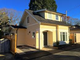 this craftsman style laneway house sits in a vancouver canada