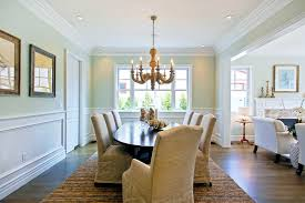 wall moulding ideas dining room traditional with oval dining table