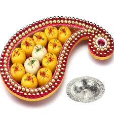 Indian Wedding Mithai Boxes Ghasitaram U0027s Diwali Special Designer Mithai Tray Sweet Dreams
