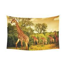 interestprint wildlife african safari home decor giraffe and