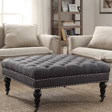 chairs with ottomans for living room ottomans poufs wayfair