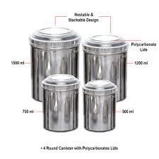 Metal Containers With Lids For Storage - buy 43 pcs stainless steel storage u0026 serving set online at best