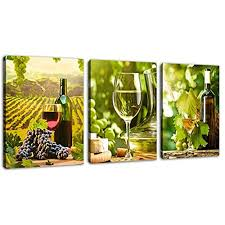 framed green grapes wine vineyard canvas art print picture wall