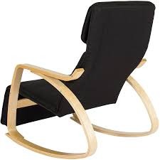 Bent Wood Rocking Chair Amazon Com Bcp Wood Recliner Rocking Chair W Adjustable Foot