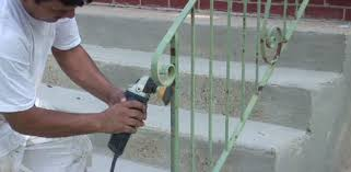 How To Refinish A Banister Painting Rusty Ironwork Today U0027s Homeowner