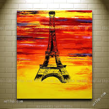 paris colors eiffel tower france europe original oil painting