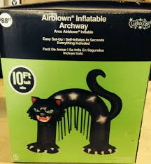 inflatable spider halloween 10 u0027 tall gemmy halloween scary black cat archway airblown