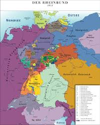 Holy Roman Empire Map Confederation Of The Rhine
