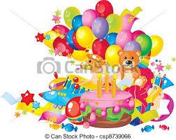 balloons gift children s birthday toys birthday cake balloons and gift clip