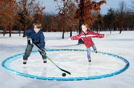 Backyard Hockey Rink by Backyard Ice Rink Measures 12 Feet And Makes Winter Even More Fun