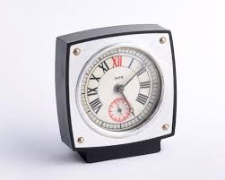 vintage alarm clock miniature soviet clock russian clock