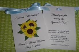 seed packets wedding favors sunflower trio wedding bridal shower anniversary flower seed