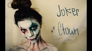 joker clown w harley quinn inspo using only face paint and
