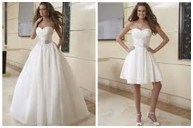 chagne wedding dress 2 in 1 wedding dresses custom made make a change on kate