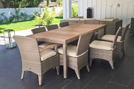 Outdoor Wicker Dining Chair Dola Boston 6 Person Teak Outdoor Dining Set Euroluxpatio