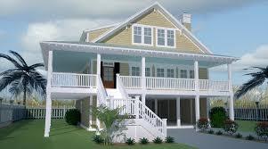 stilt home plans plan 2118dr wonderful wrap around porch porches 17 beach cottage