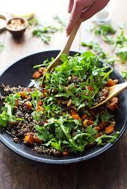 roasted sweet potato wild rice and arugula salad recipe pinch