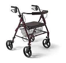 senior walkers with seat medline heavy duty bariatric aluminum mobility