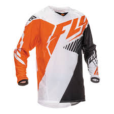 orange motocross gear fly racing 2016 youth kinetic vector motocross jersey stretch off