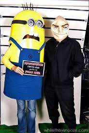 minion costume while they snooze how to make a minion costume