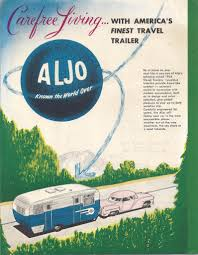 1956 aljo sales brochure vintage trailer talk trailer ads