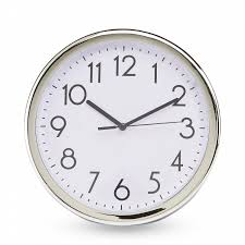 the great find 9 inch silver circular wall clock shop your way