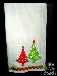 christmas applique christmas applique tea towels allfreesewing