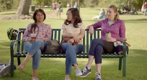 commercial actress database the women in the park bench commercial