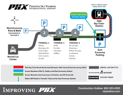 Phoenix Airport Terminal Map Phx Sky Train Overnight Restrictions