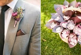 wedding flowers groom outdoor garden wedding groom boutonniere purple flowers once wed