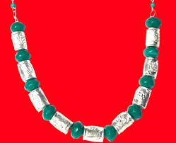bead necklace red silver images Portfolio of beads and pearls jewellery set jpg