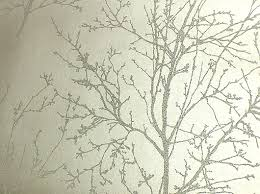 wallpaper s metallic silver tree with glass