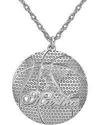 deal alert basketball name pendant in sterling silver 8 letters