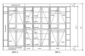 standard closet depth dimensions