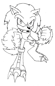 the werehog coloring pages