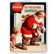 coca cola christmas greeting cards collection on ebay